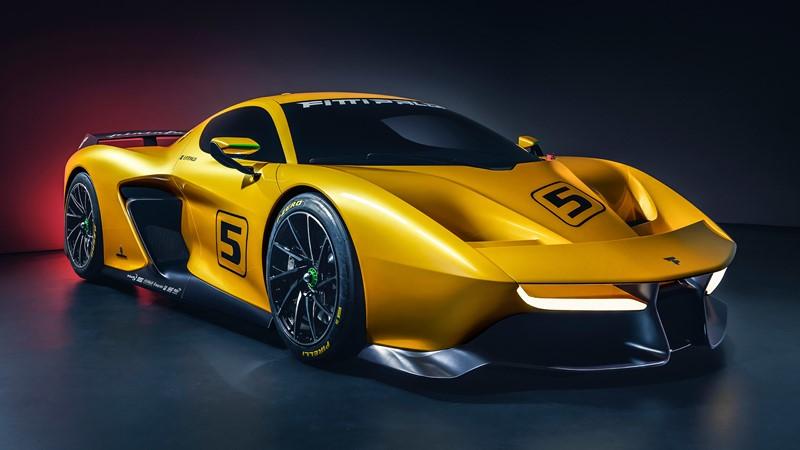 Фотообои Желтая спортивная машина