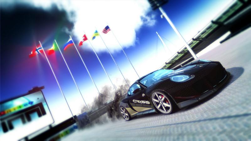 Фотообои Черный спорткар