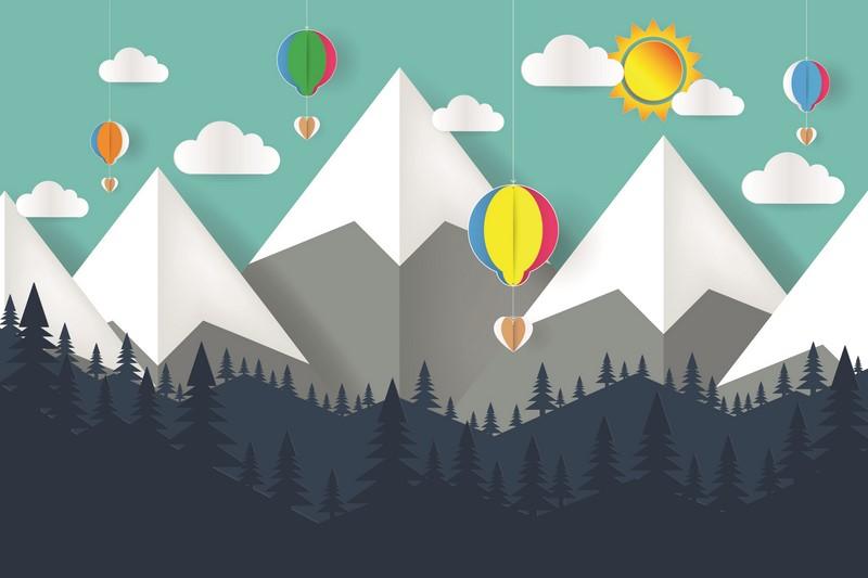 Фотообои Горы и шары