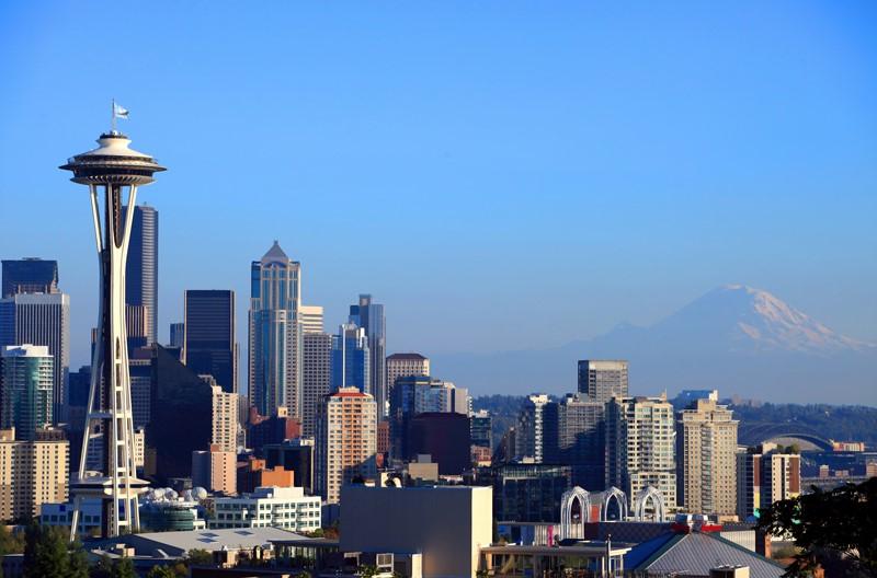 Фотообои Сиэтл днем