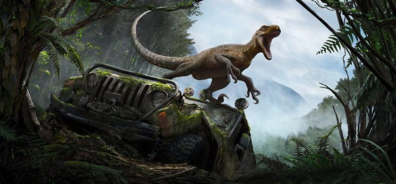 Фотообои Динозавр в лесу