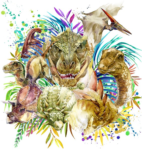 Фотообои Динозавры рисунок