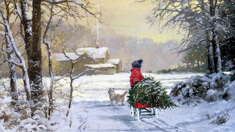 Фотообои Картина «Зимняя сказка»