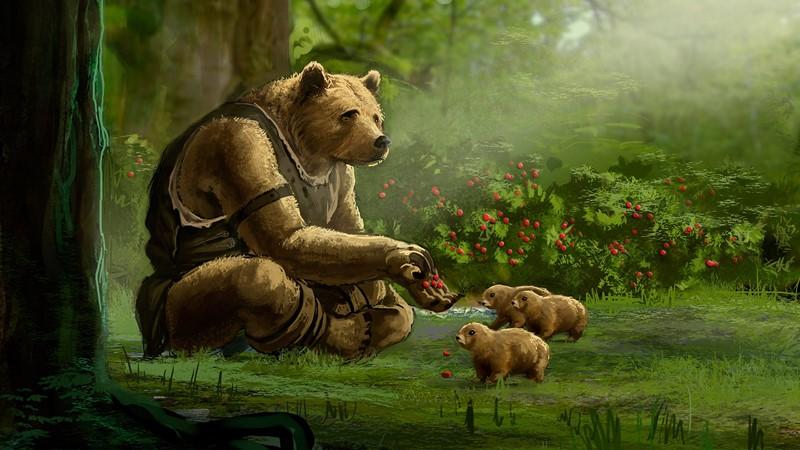 Фотообои Warrior bear