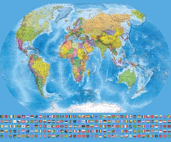 Фотообои Большая политическая карта