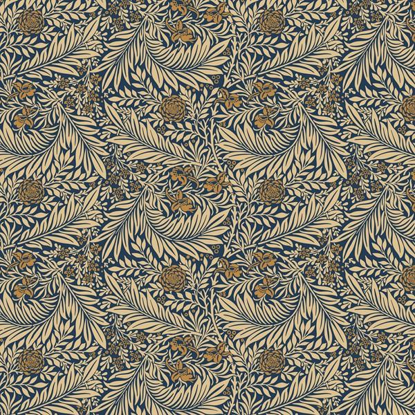 Фотообои Синий цветочный узор