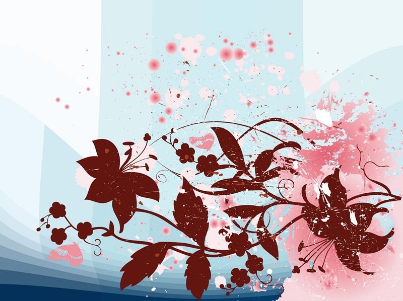 Фотообои Цветочный пейзаж