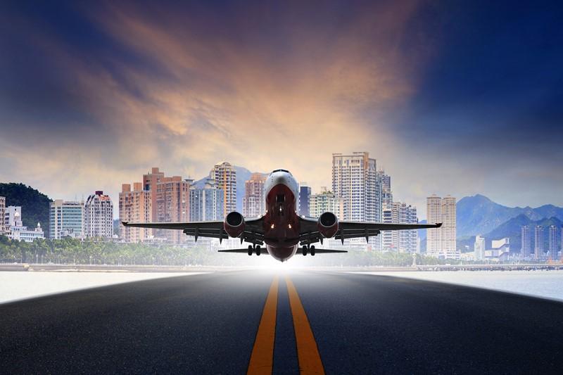 Фотообои Взлёт самолёта