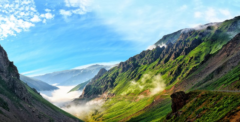 Фотообои Солнечные горы