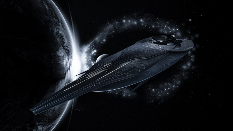 Фотообои Космический фрегат