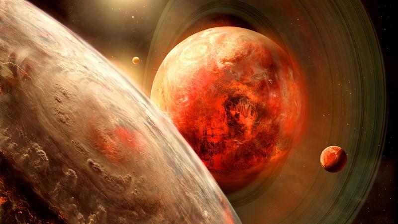 Фотообои Красные планеты