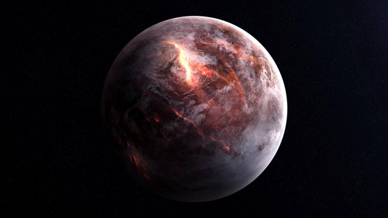 Фотообои Огненная планета