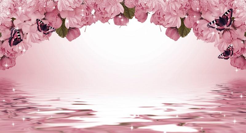 Фотообои Цветки над водой