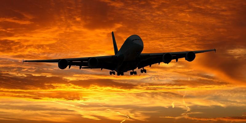 Фотообои Самолёт на закате