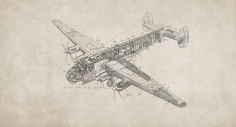 Фотообои Чертёж самолёта