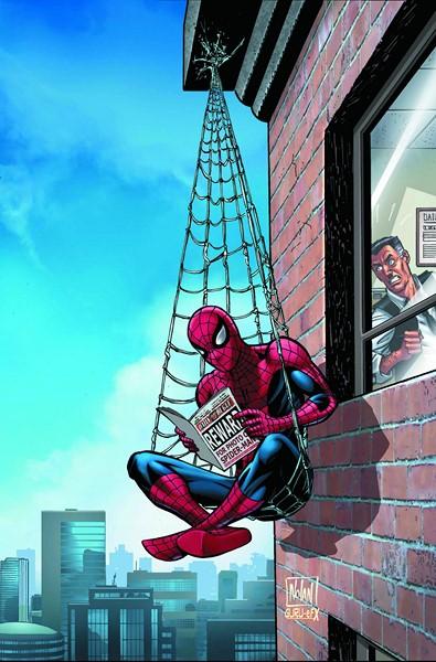 Фотообои Человек-паук с газетой