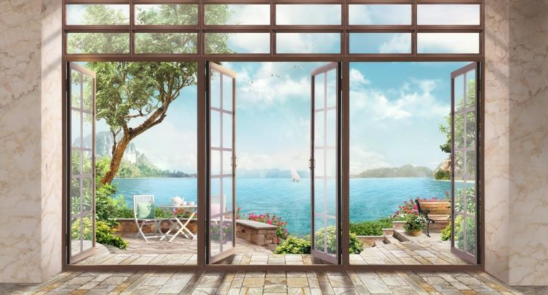 Фотообои Окна в сад