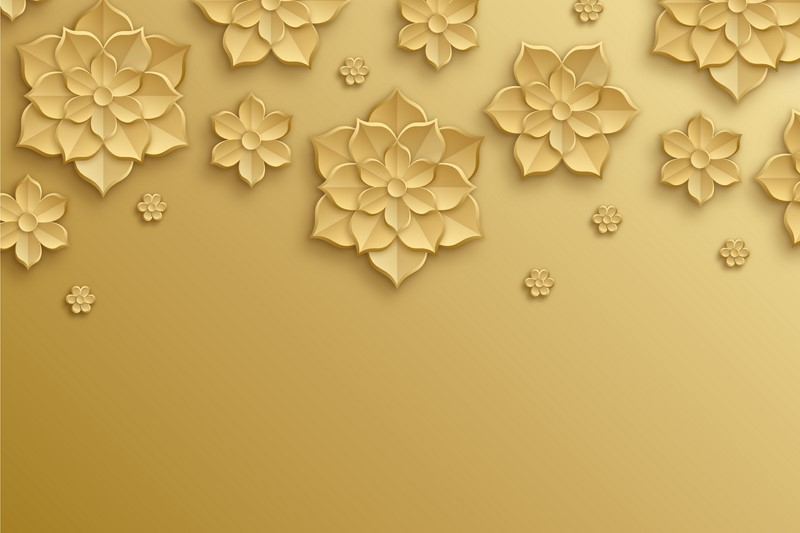 Фотообои Золотые цветки