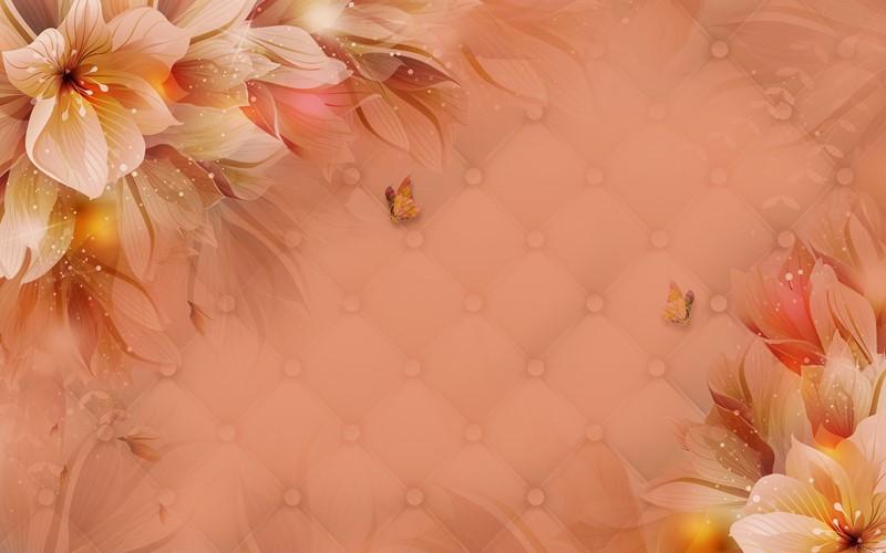 Фотообои Цветы с блёстками