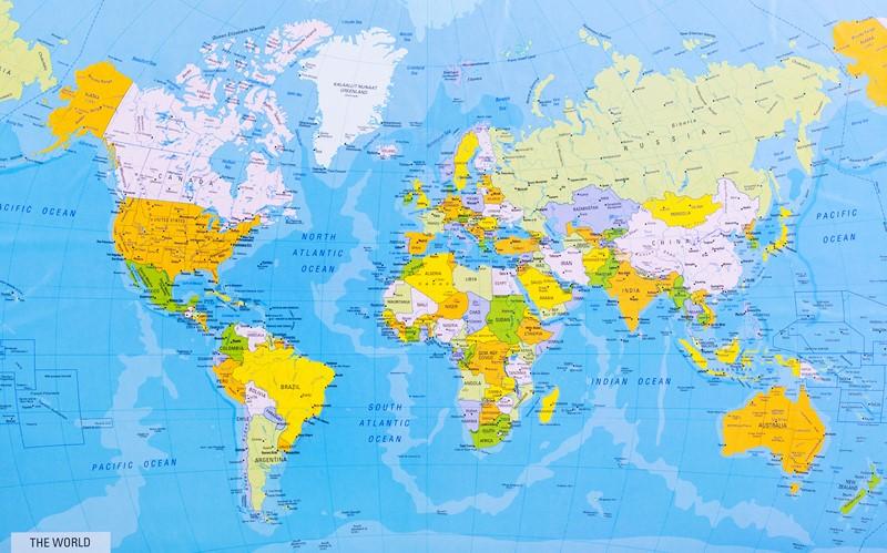 Фотообои Большая карта мира
