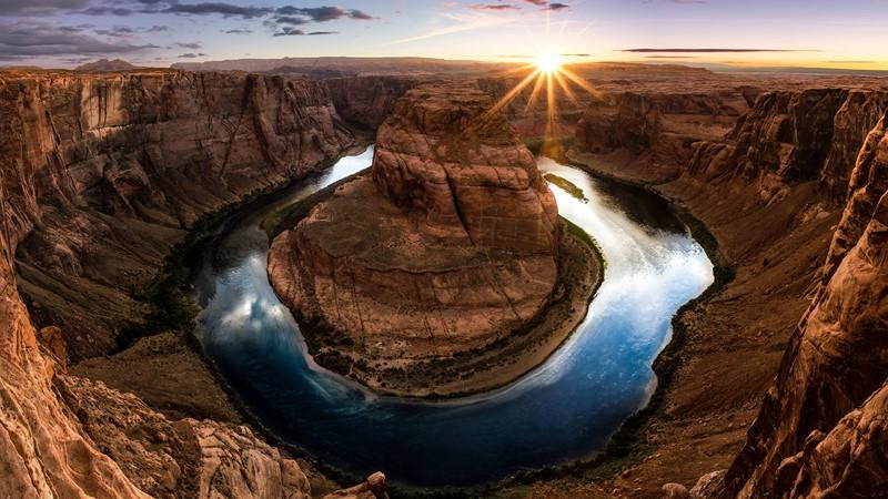 Фотообои Солнечный каньон