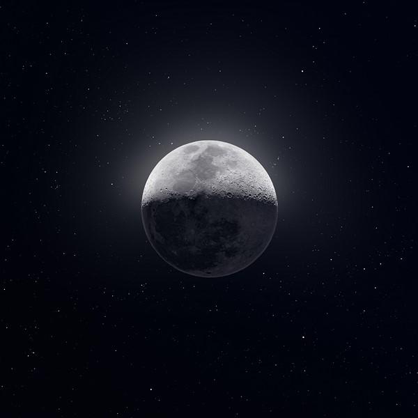Фотообои Одинокая Луна