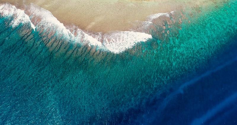 Фотообои Синие волны