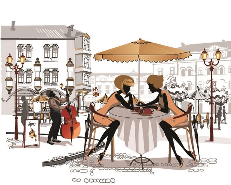 Фотообои Столик в Париже