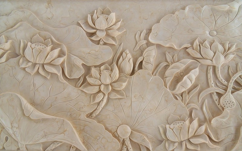 Фотообои Мраморные цветы