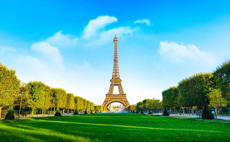 Фотообои Солнечная Эйфелева башня