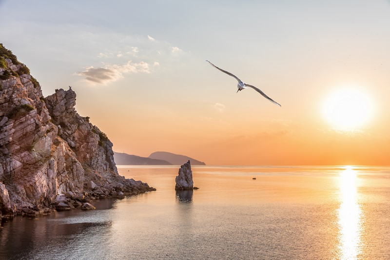 Фотообои Солнце над заливом