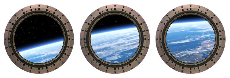 Фотообои Земля в иллюминаторе