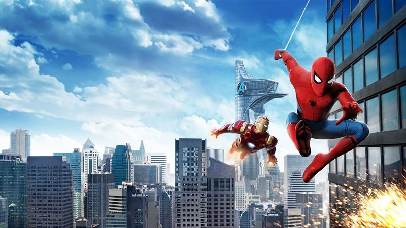 Фотообои Спайдермен и Железный человек