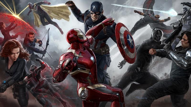 Фотообои Противостояние мстителей