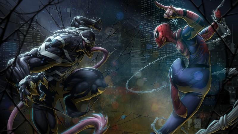 Фотообои Спайдермен против Венома