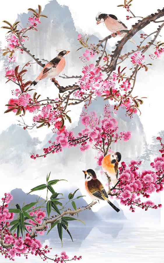 Фотообои Влюбленные птицы