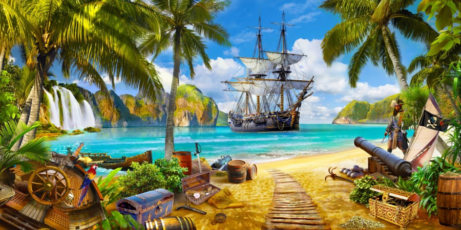 Фотообои Пристанище пиратов