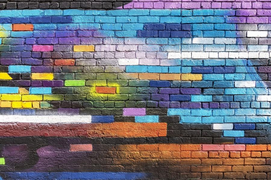 Фотообои Разноцветная стена