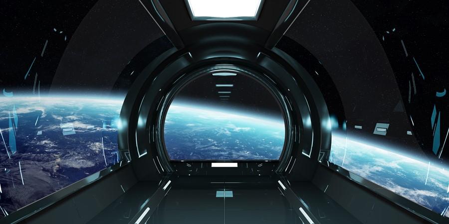 Фотообои Вид из космического корабля