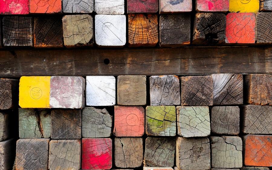 Фотообои Разноцветные бруски