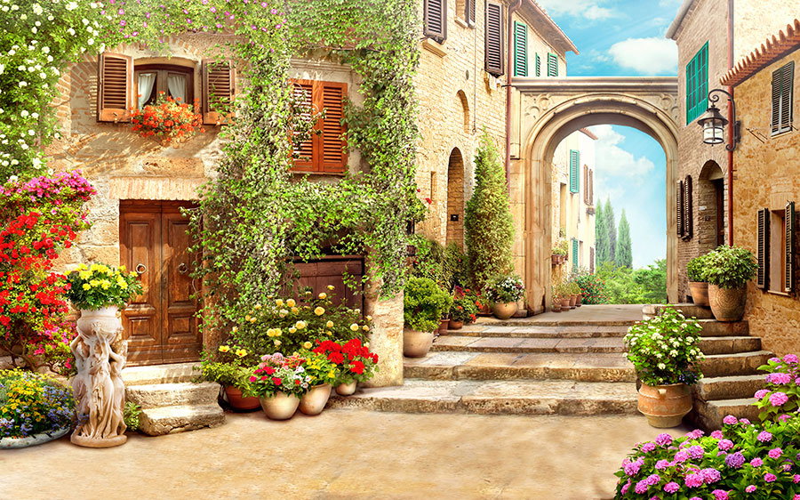 Фотообои Цветочный переулок