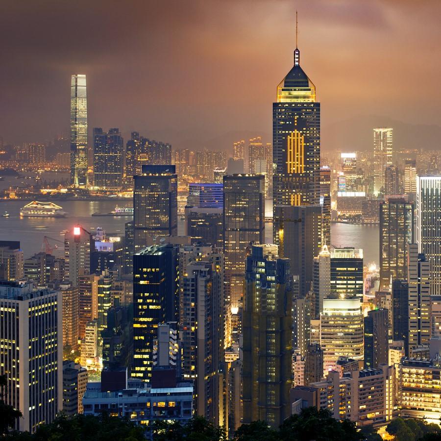 Фотообои Небоскрёбы Гонконга