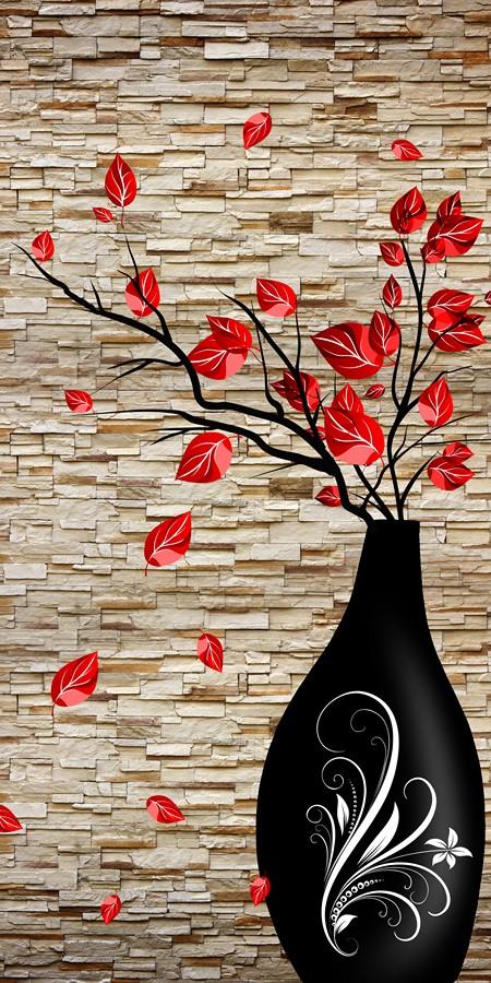 Фотообои Алые листья