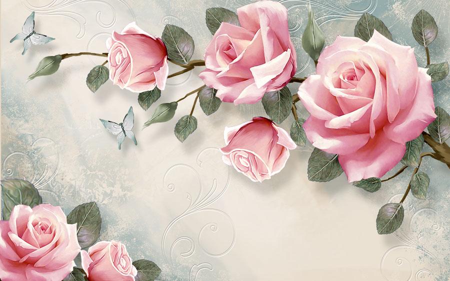 Фотообои Розы рисунок
