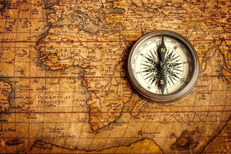 Фотообои Винтажная карта