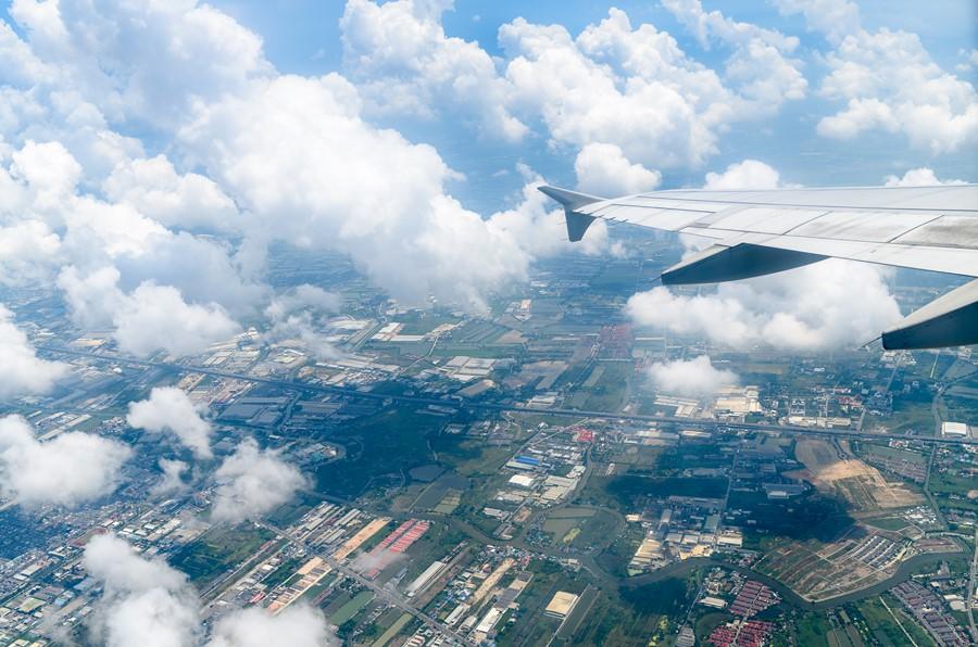Фотообои Вид из самолёта