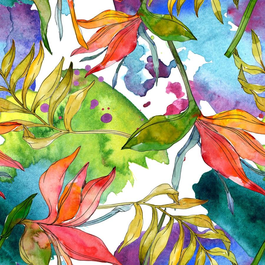 Фотообои Цветы акварелью