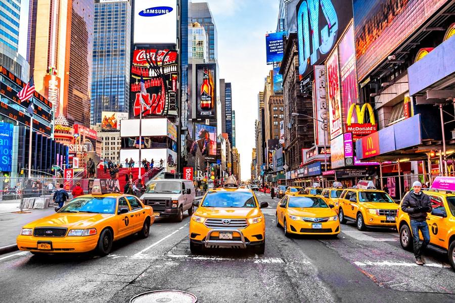 Фотообои Город Такси