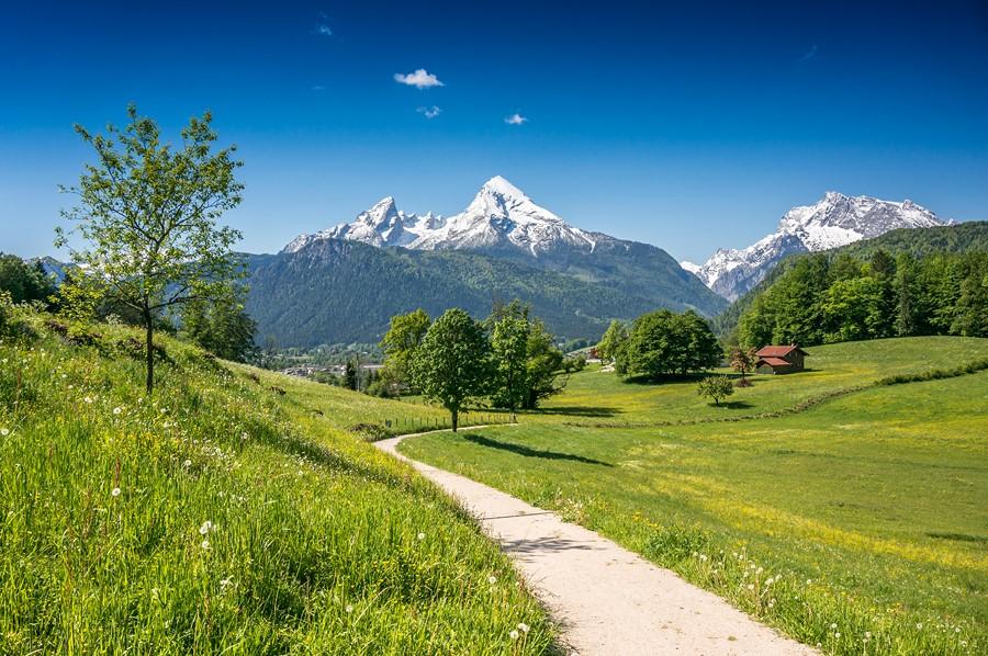 Фотообои Альпийский пейзаж