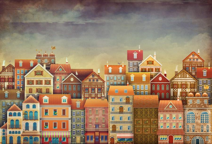 Фотообои Европейский городок